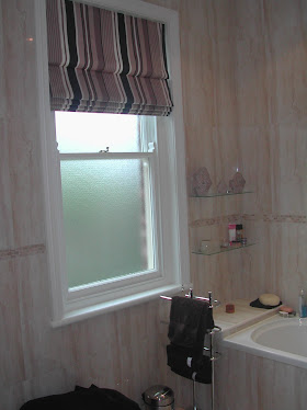 Roman blind in a bold stripe, lovely