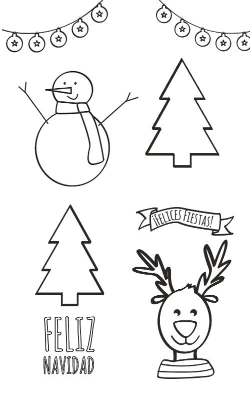 Dibujos para colorear dibujos de navidad para colorear - Dibujos infantiles originales ...