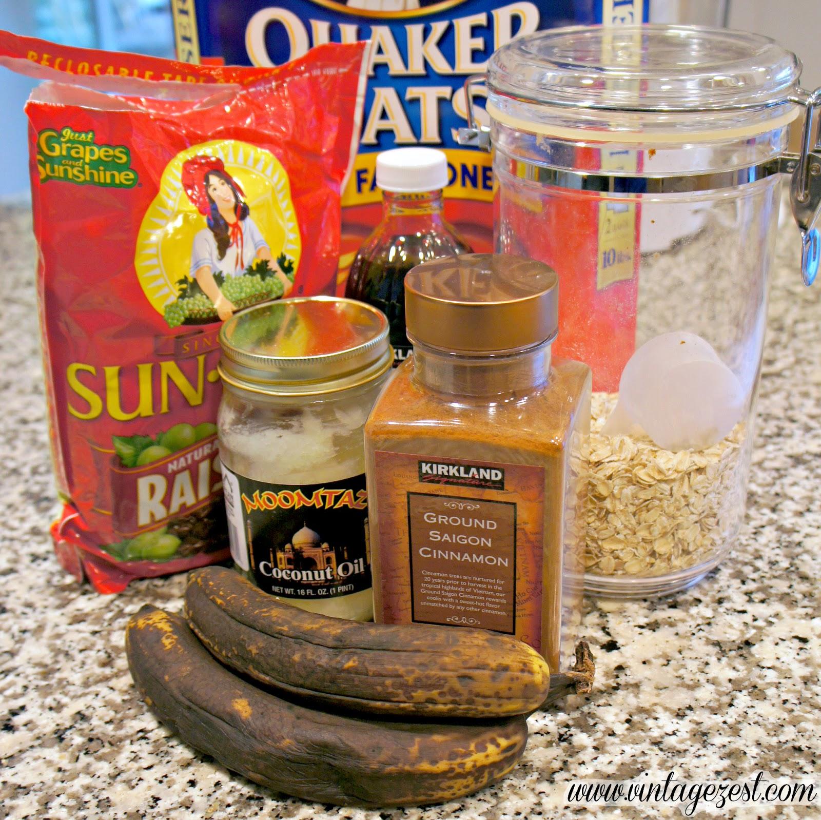 Favorite Breakfast #4: Banana Oatmeal Breakfast Cookies on Diane's Vintage Zest!  #breakfast #recipe #banana #cookies