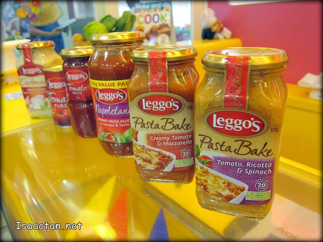 The various Leggo's Pasta Bake Sauce used