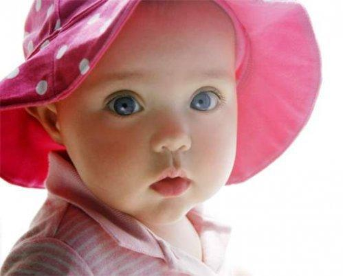 Cute Baby Girls with Green Eyes