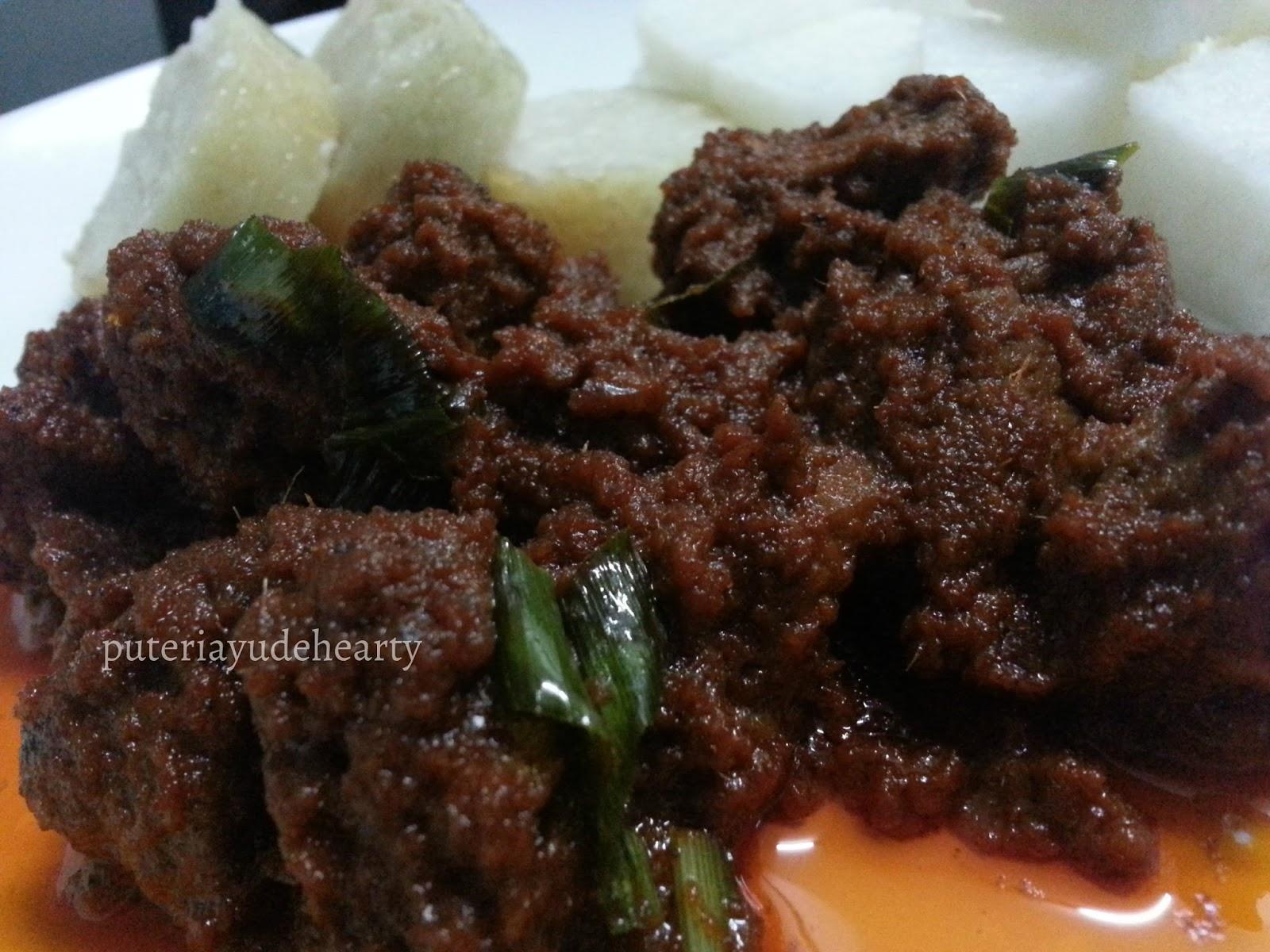 how to cook rendang daging