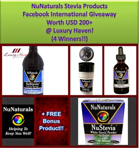 luxury haven nunaturals nustevia giveaway