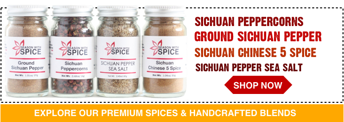 buy sichuan pepper sea salt, ground szechuan pepper and szechuan peppercorns from season with spice asian spice shop