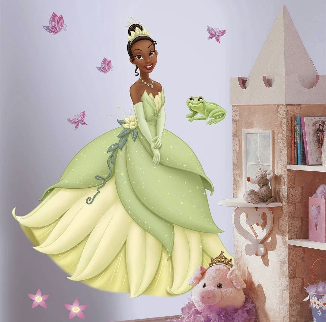 Princess Tiana Giant Wall Decal With 3d Butterflies