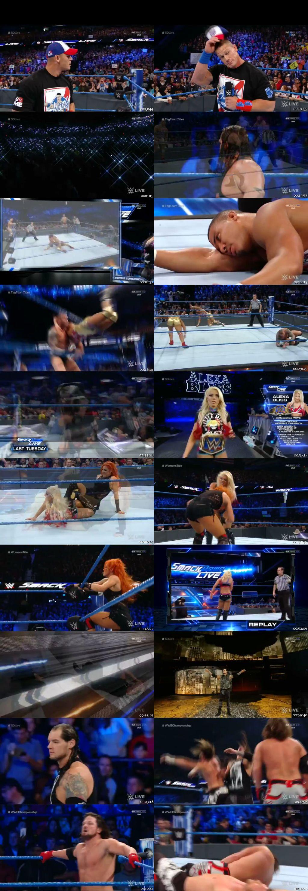Screen Shot Of WWE SmackDown Live 27th December 2016 HDTV 480P 300MB