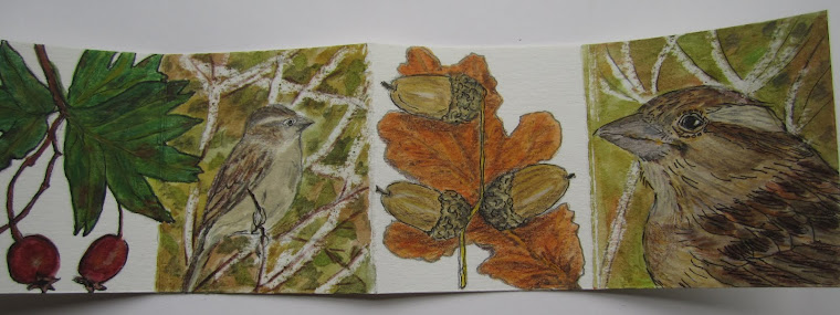 Autumn concertina book