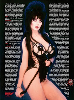 Page 37 from Fangoria #344 featuring Elvira
