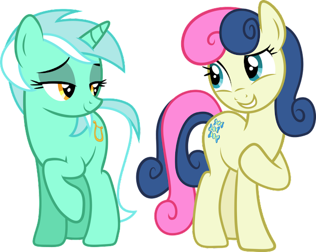 Lyra and Bonbon and the Mares from S.M.I.L.E