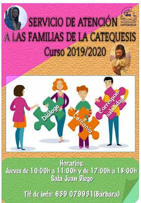 Atención a las familias de Catequesis