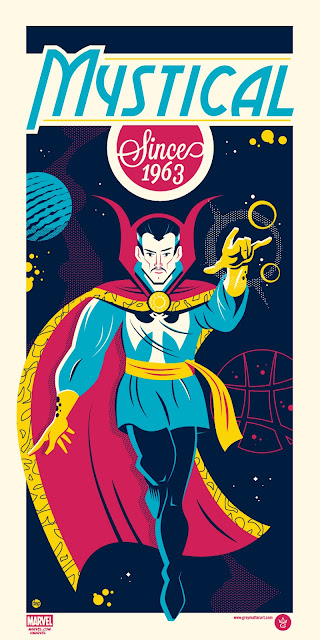 "Doctor Strange ""Mystical Since 1963"" Marvel Screen Print by Dave Perillo"