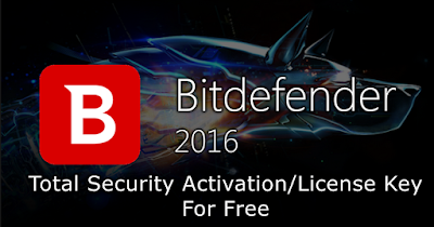 Bit defender Total Security 2016 full version for free