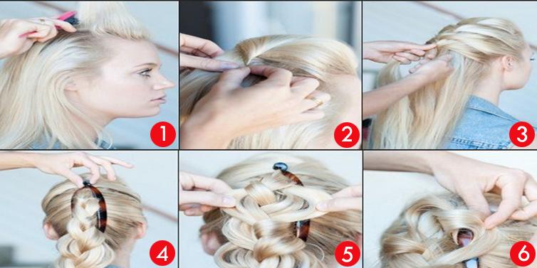 bantu knots hairstyle : SIMPLE BANANA CLIP BUN HAIRSTYLE. TOP BUN HAIRSTYLE