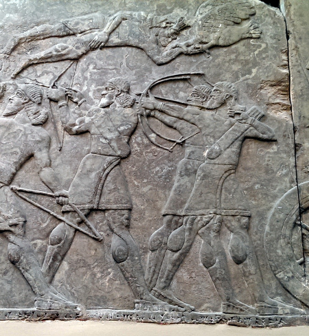London notes: The Assyrian foot troops never skip leg day. British Museum.