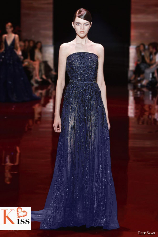 Purple Lace Elie Saab Fall/Winter 2013-2014 Couture