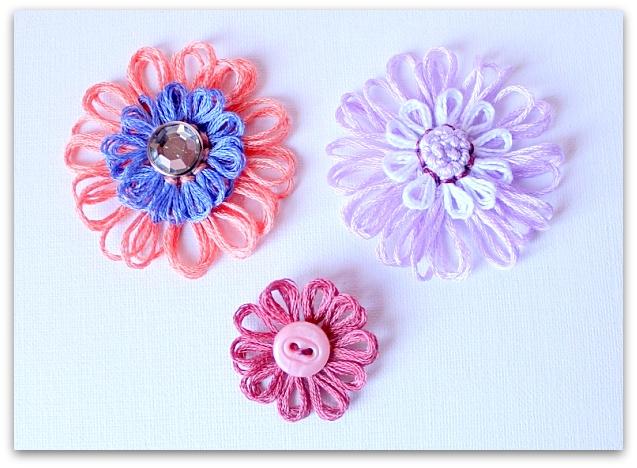 Как сделать цветы из ниток своими руками