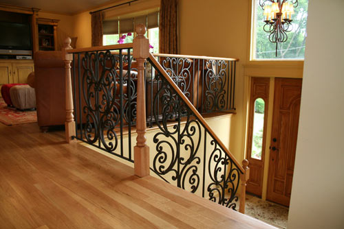 Top interior design interior wood and iron railings for Interior iron railing designs