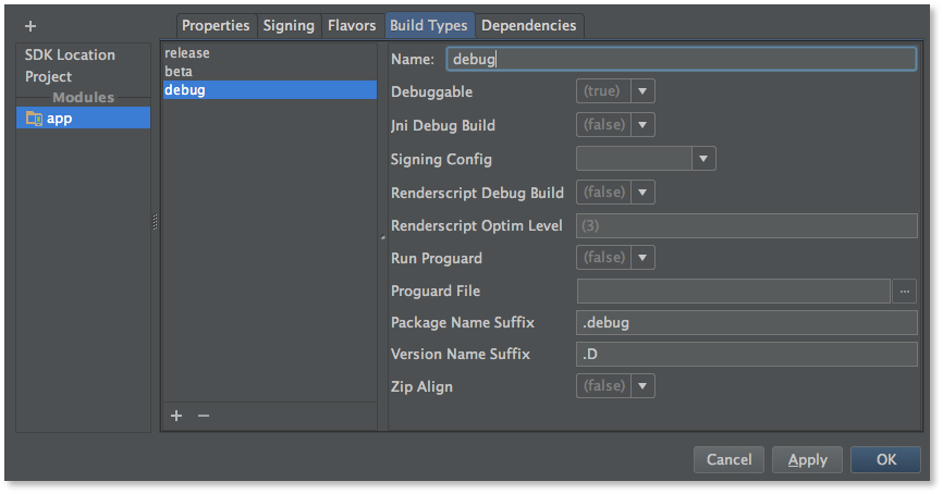Android Studio 0.8.2 Build 135.1267975 Beta