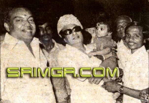 MGR with 'Kaviyarasu' Kannadhasan