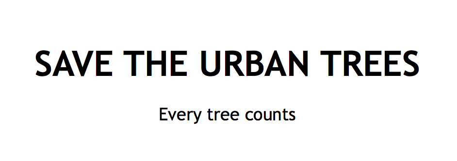 Save the Urban Trees