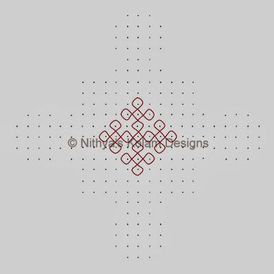 2 Kolam 103: Pongal Kolam
