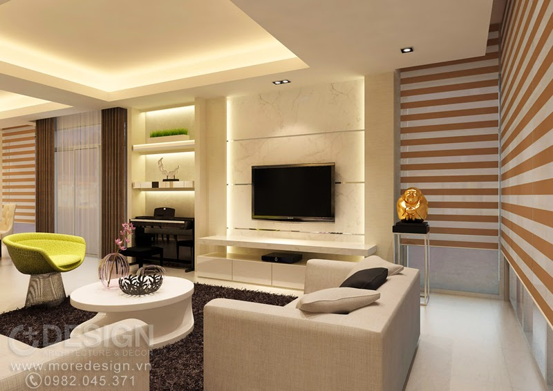 Thiết kế nội thất căn hộ Green Valley, Q.7, TP.HCM