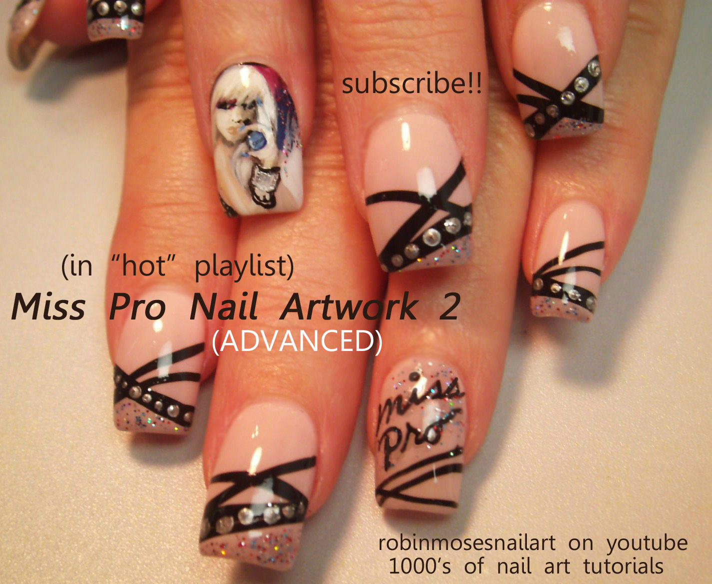 Robin moses nail art how to paint a lady how to paint a portrait how to paint a lady how to paint a portrait painting women miss professional nail miss pro artwork 1 miss pro artwork 2 easy purple nails prinsesfo Images
