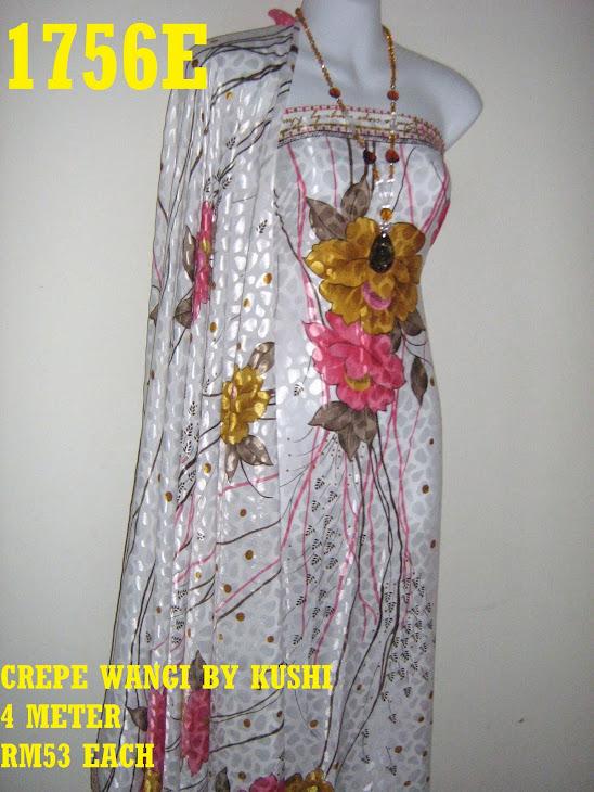 CWK 1756E: CREPE WANGI BY KUSHI, 4 METER