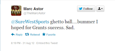 "Marc Astor doesn't like Grant's ""ghetto ball"""
