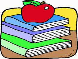 Image of an apple on books
