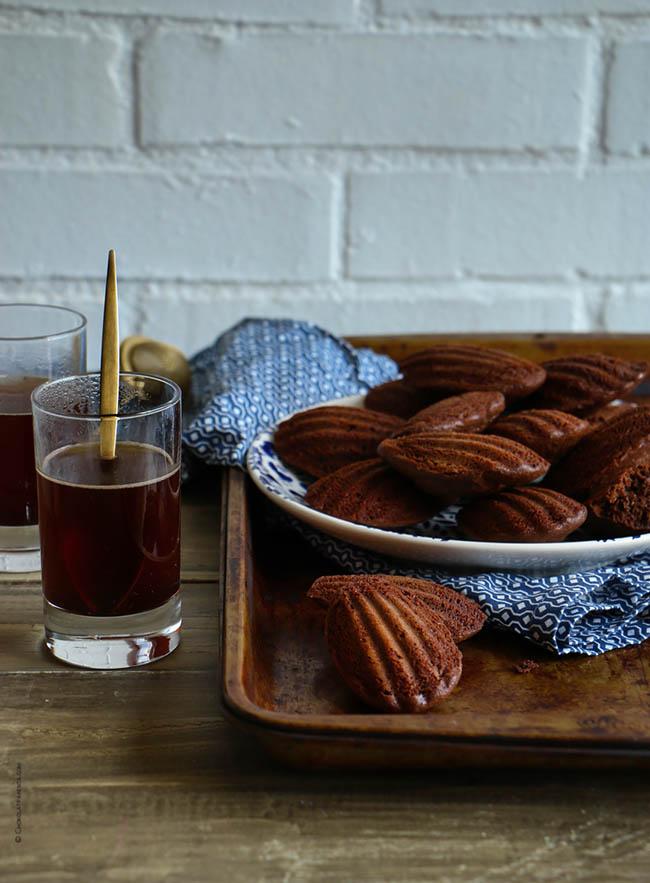 French Madeleines de Chocolate y Café