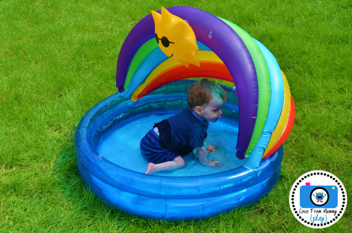 Riley's 1st Time In The Paddling Pool