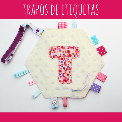 Trapo etiquetas para bebe