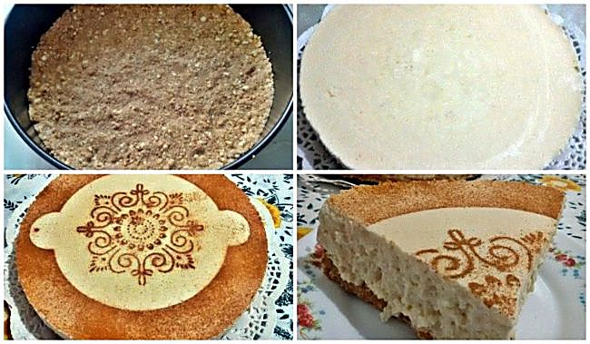 Preparación de la tarta de arroz con leche