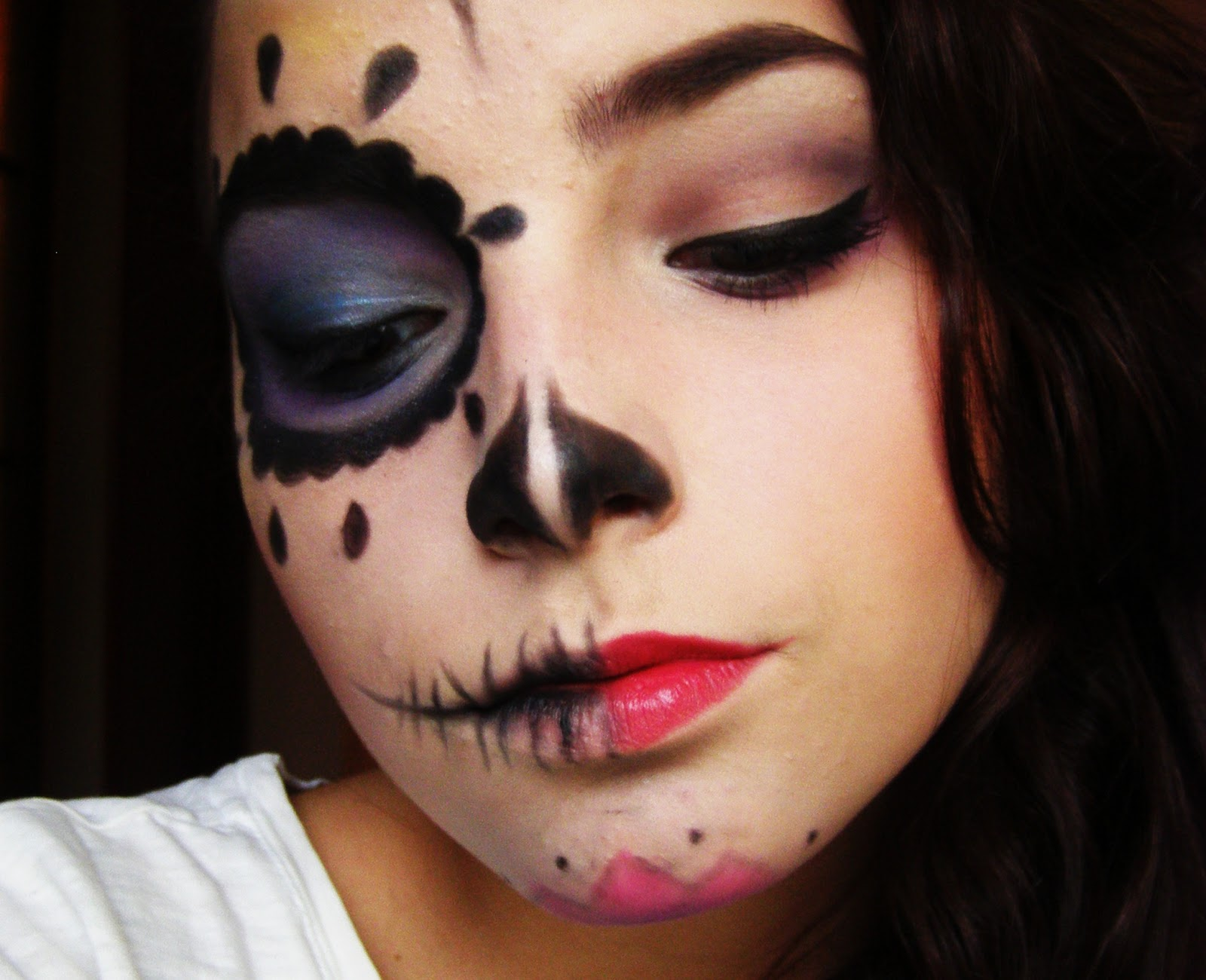 Halloween Cat Face Paint