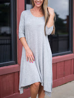 romwe high low dress