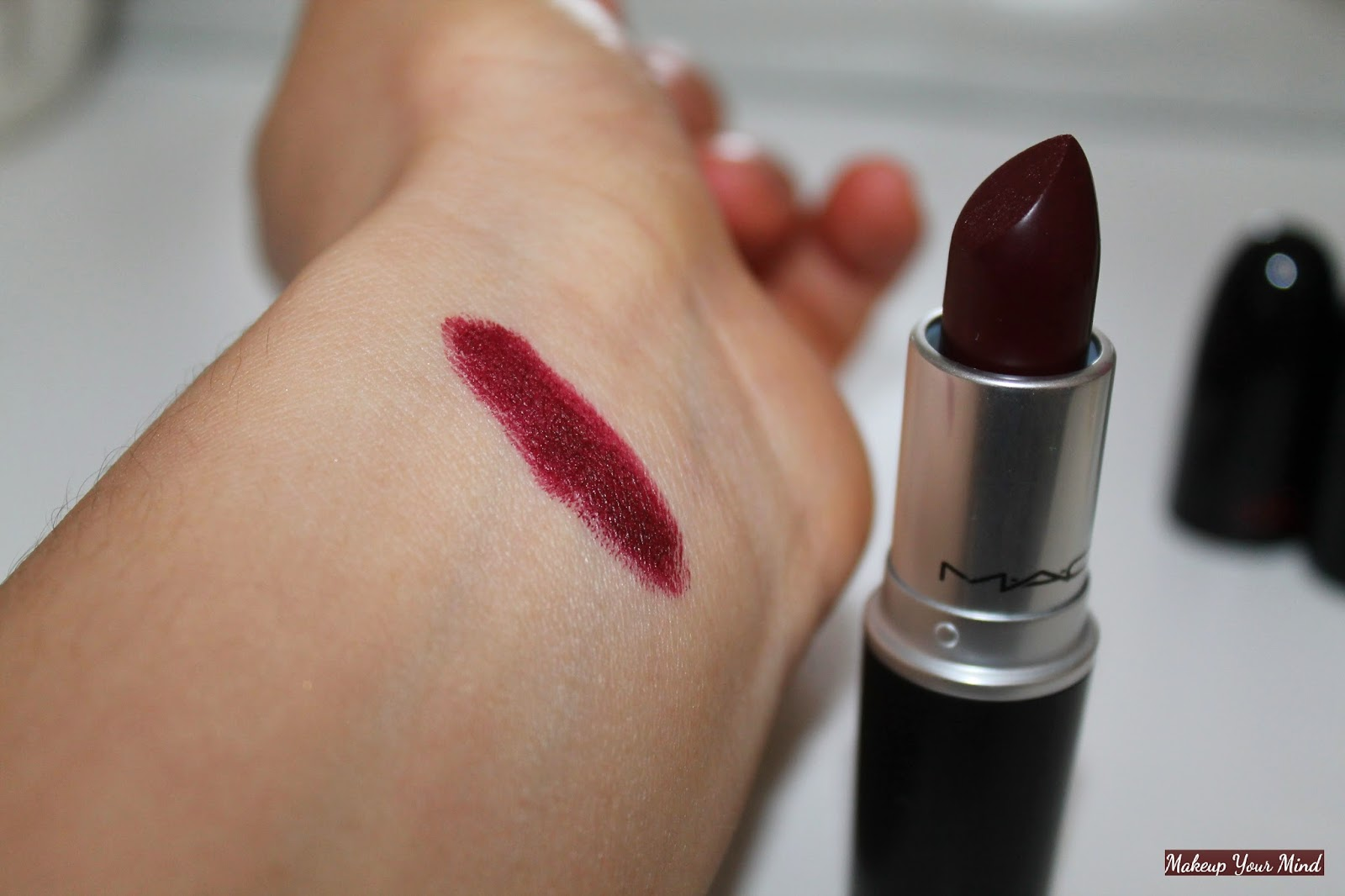 makeup your mind vampy lips mac quotsinquot lipstick and some
