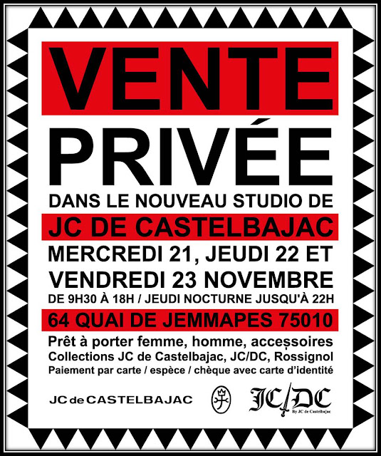 Vente privee Jean Charles de castelbajac novembre 2012 studio Paris quai de Jemmapes Canal saint Martin