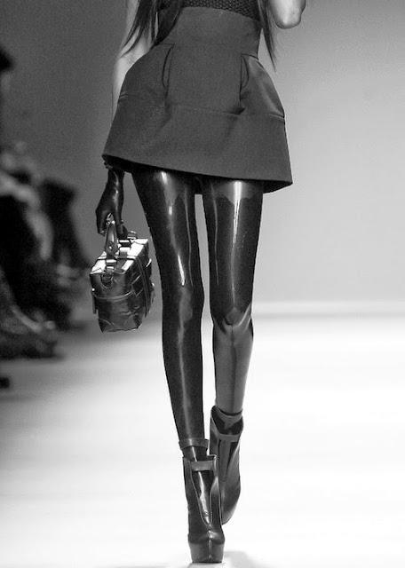 Fetish Fashion : Latex Black Leggings