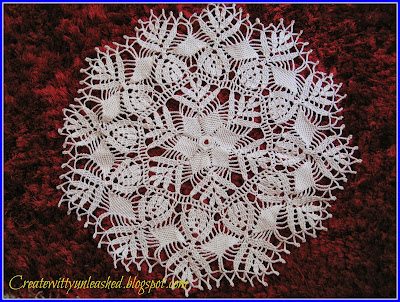 White crochet doily