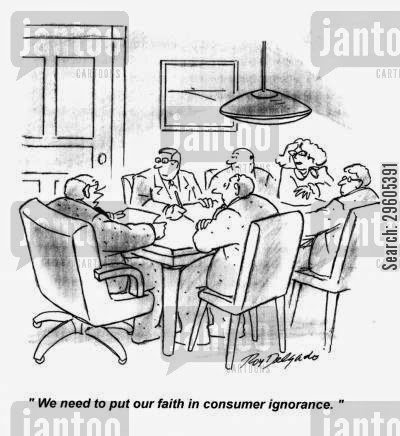 Benefits of Consumer Ignorance Funny Comic Images, Cartoons