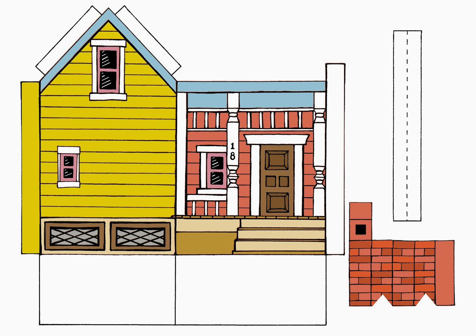 Crush image regarding house from up printable