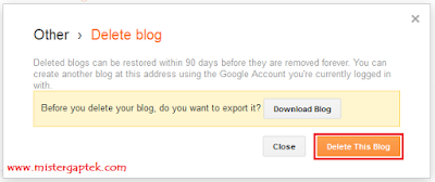Cara Menghapus Blog di Blogspot (Blogger)