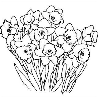 Desenho Para Colorir Primavera, flores