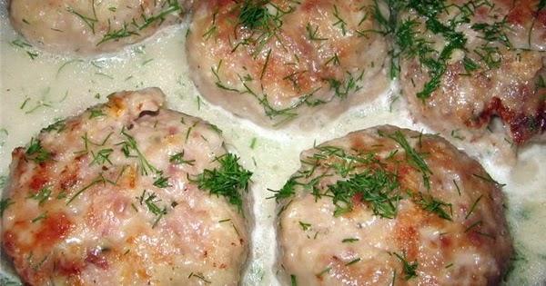 Рецепт биточки в сливочном соусе