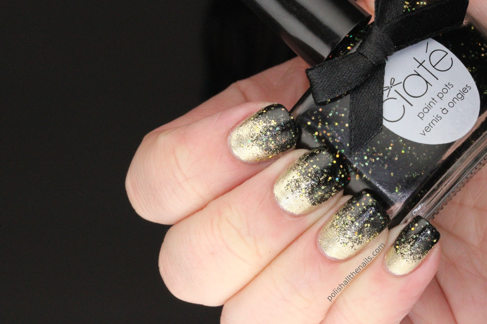 Nail Art: Review: Ciate Jewellery Box over Revlon Gold Coin