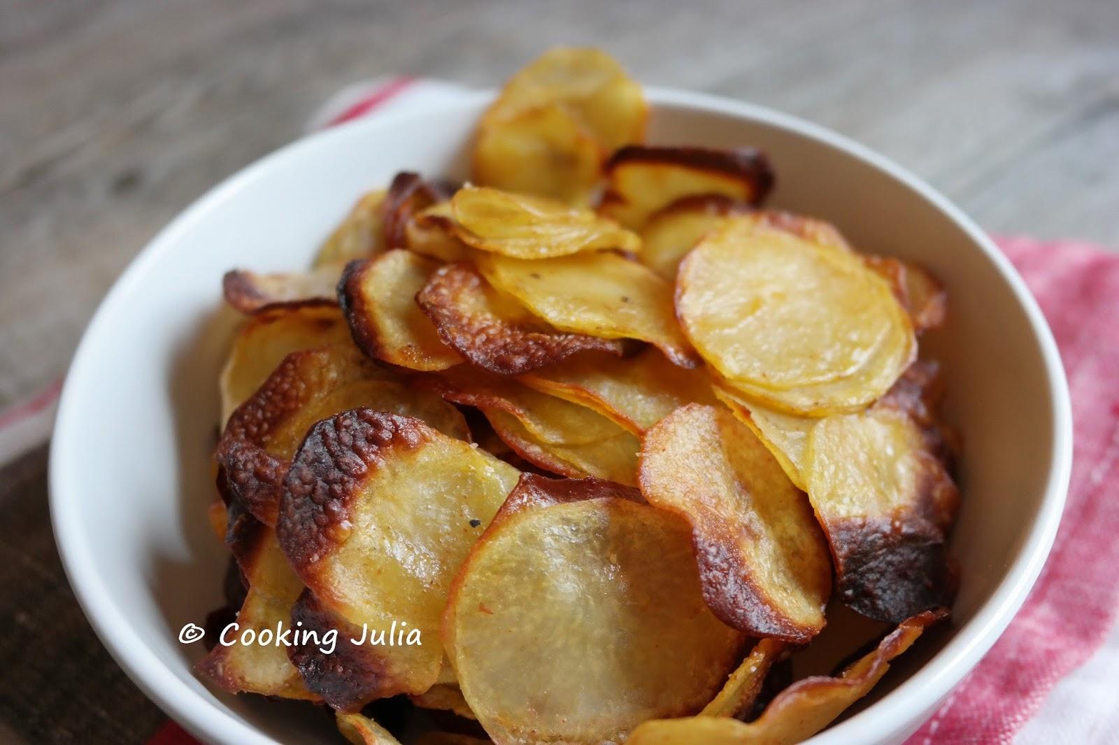Cooking julia chips maison l g res au four - Chips fait maison au four ...