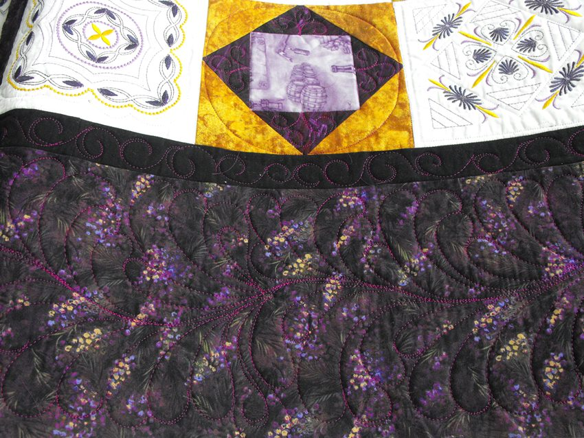 Crazy Creek Creations: Beautiful Embroidered Quilt by Maxine