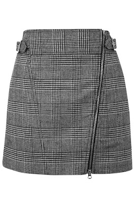 checked biker mini skirt from Topshop