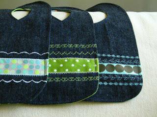 membuat kerajinan celemek bayi dari kain jeans lama